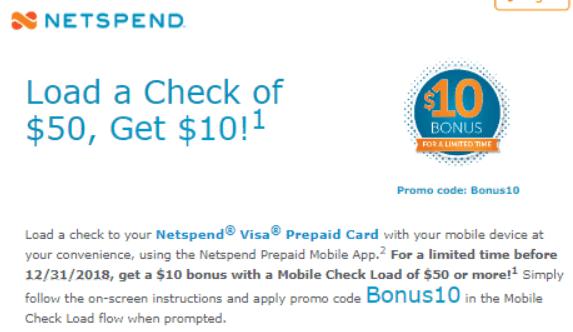 Netspend Prepaid Card Promotion: Free $5 - $15 Bonus (YMMV)