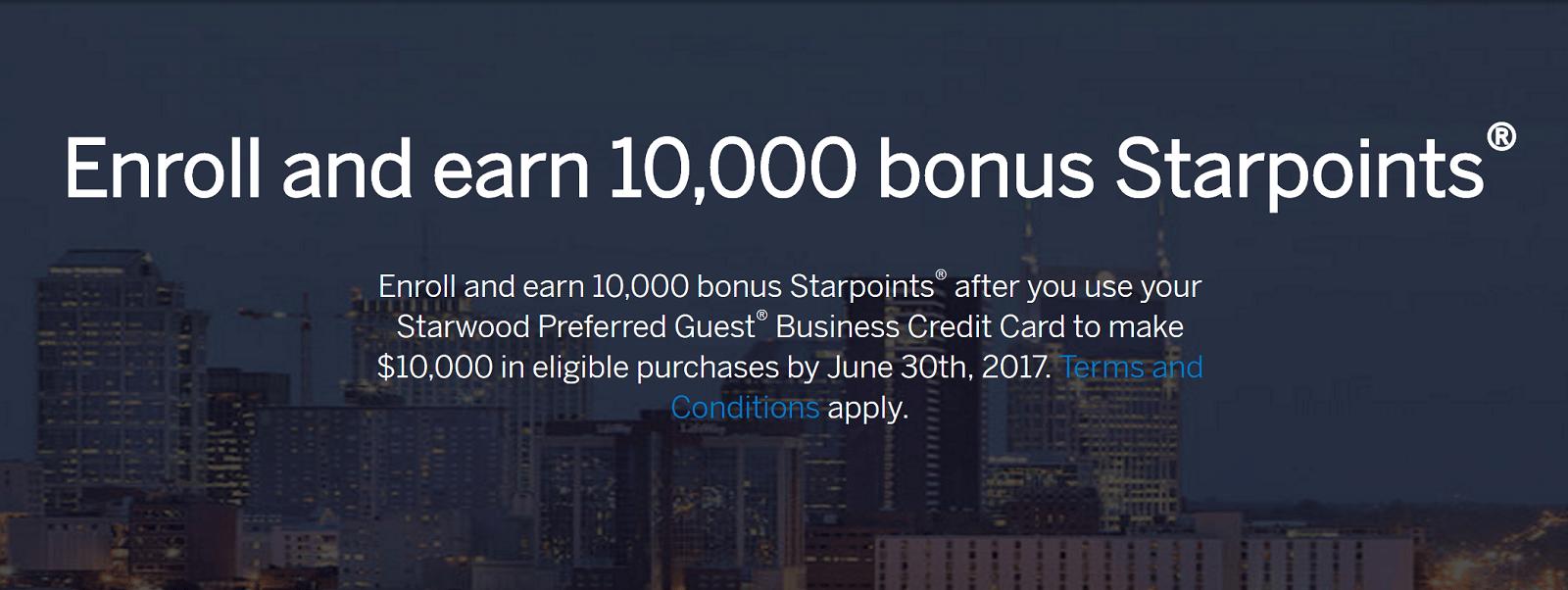 SPG Cardholders Check Promotion: Spend $10k Get 10,000 Bonus Points