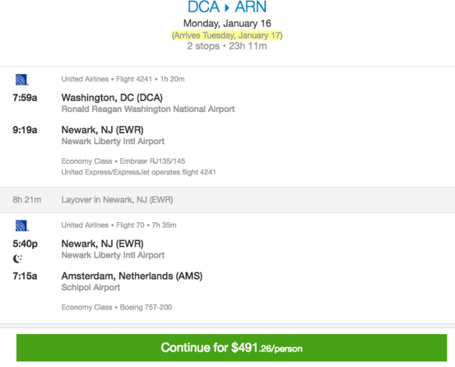 December  Travel Deal Dca