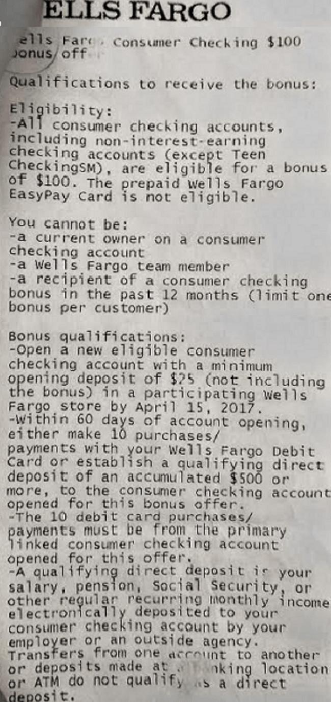 Wells Fargo Bank Review: $100 – $150 ATM Bonus (Targeted; Nationwide)