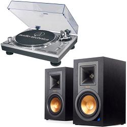Klipsch R-15PM Bluetooth Speakers + Audio-Technica Turntable