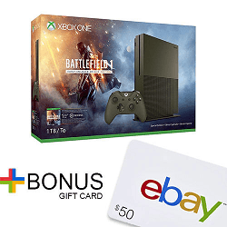 Xbox One S 1TB Console (Battlefield 1 or Gear of War 4