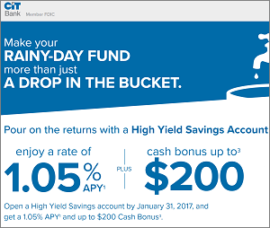 CIT Bank High Yield Savings Account