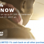Chase Freedom First Quarter 5% Cash Back Categories 2017