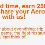Aeroplan 250 Bonus Miles Share Your Story Promotion