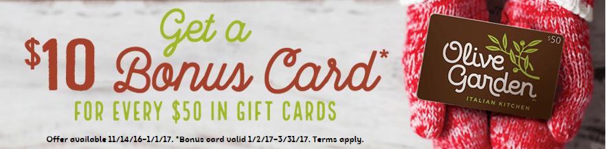 Free Olive Garden 5 Gift Card 1 200 Winners