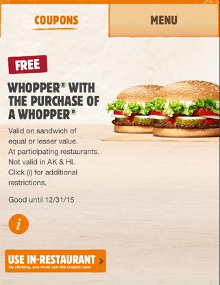 burger king kuponer