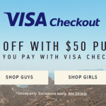 Hollister Co. Visa Checkout Promotion: $10 Off $50 Purchase or More