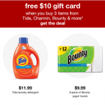 Target Household Essentials Promotion: Free $10 Gift Card With Purchase