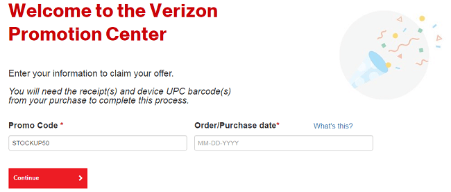 Verizon coupon code