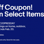 Ebay President's Day Promotion: 20% Off Home, Outdoor and More