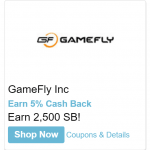 Swagbucks Free 2,500 SB With GameFly Subscription