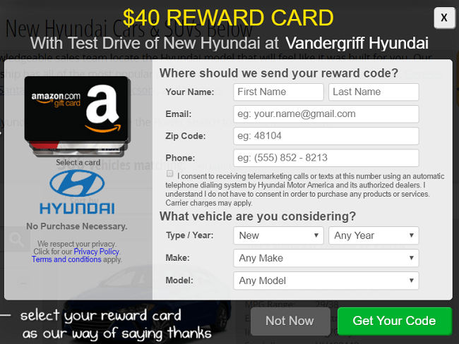 hyundai test drive 40 gift card promotion amazon target or visa gift card. Black Bedroom Furniture Sets. Home Design Ideas