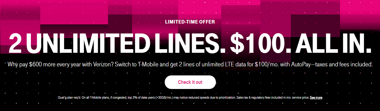 T mobile hook up promotion