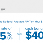 CIT Bank Online High Yield Savings Promotion: Up to $400 Bonus+ Earn 1.05% APY (Nationwide)