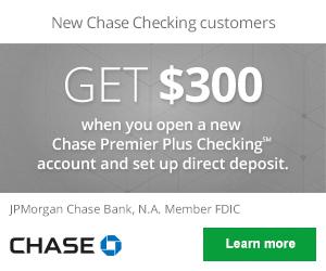 Chase Premier Plus Checking Review: $300 Bonus Coupon (Nationwide)