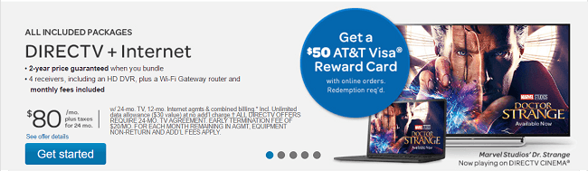AT&T Internet + DirectTv Package Promotion: 2-Yr Package ...