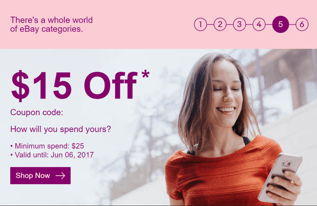 Ebay $15 off coupon code