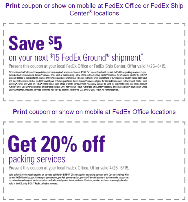 Fedex discount coupon