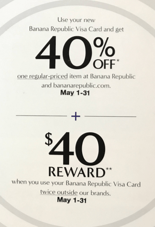 GAP INC. CREDIT CARD REWARDS PROGRAM TERMS AND CONDITIONS: Definitions: All Gap, Banana Republic, Old Navy, and Athleta credit card or Visa cardholders and Gap Inc. Visa Signature cardholders are eligible to participate in the Gap Inc. Rewards Program.