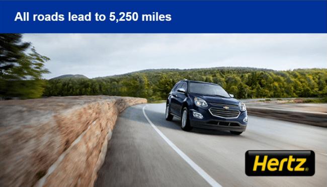 Hertz Rental 5K+ United Miles Promotion (Targeted