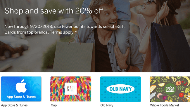 Amex Membership Rewards Gift Card Promotion 20 Discount