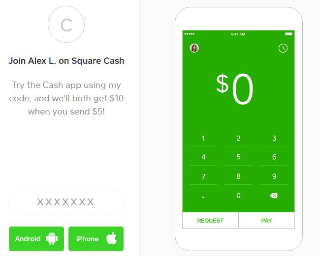 Square Cash Referral Promotion: $5 Sign Up Bonus & $5 Referral Bonus