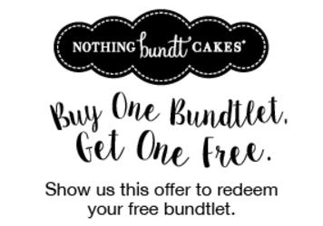 Coupon nothing bundt cakes 2018