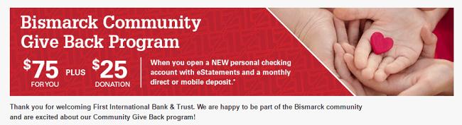 First International Bank & Trust $75 Bonus