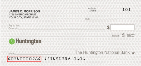 huntington bank routing number information  find your