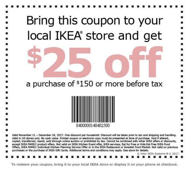 Like IKEA coupons? Try these...