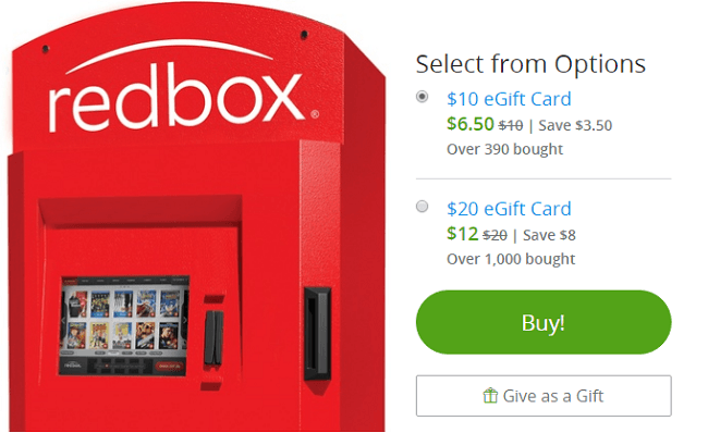 Groupon Red Box Gift Card Offer: Get Up to 40% Discount