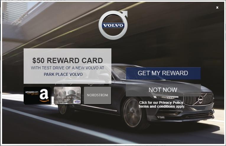 Volvo Test Drive Offer: Get a $50 Visa Gift Card