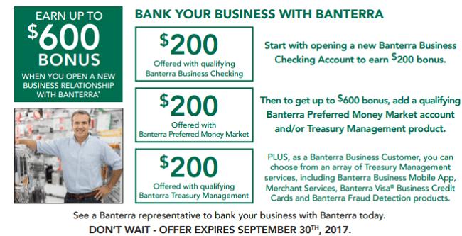 Banterra Business and Money Market $400 Bonus