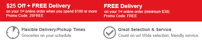 Safeway Grocery Delivery Promotion: Get $25 Off + Free