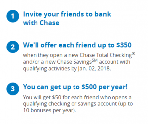 Chase referral bonus step