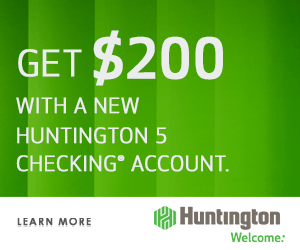 Huntington 5 Checking Bonus Coupon Offer Code Promotion