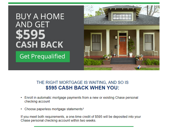 Cash back options on investment mortgages