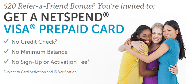 Netspend Promotions, Referrals, Promo Codes, Coupons August 2019