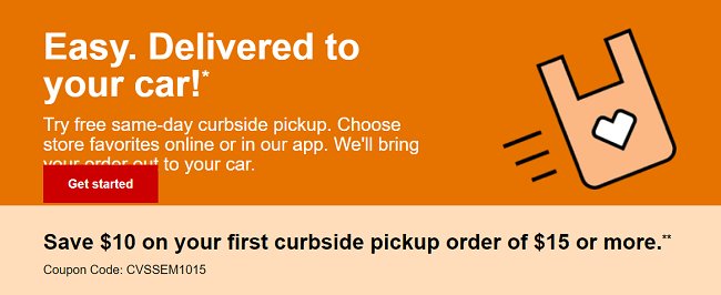 cvs express promotion receive 10 off 10 with curbside pickup order