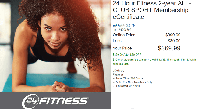 No Excuses For Skipping The Gym Here With This Costco Deal You Can Save 62 Off A 2 Year Membership To 24 Hour Fitness Instead Of Paying Over 1 000