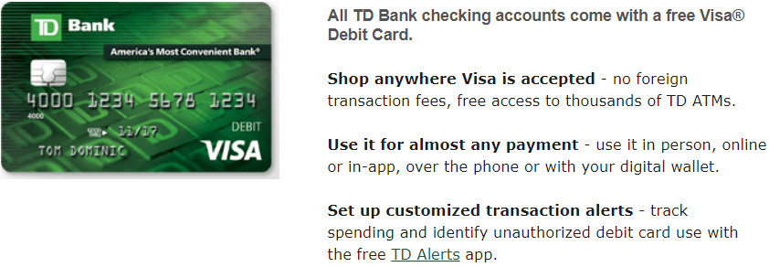 td bank debit card foreign transaction