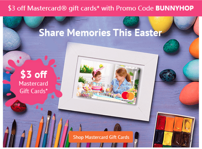 Giftcards mastercard gift card deal get 3 off promotion cannot be combined with any other offers and is a one time use code valid on giftcards only and excludes giftcards for business orders colourmoves