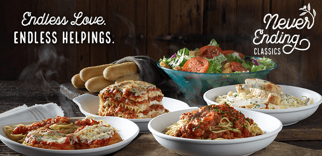 All The Pasta You Can Eat With Olive Garden S Never Ending: Olive Garden Never Ending Promotion: Unlimited Classics
