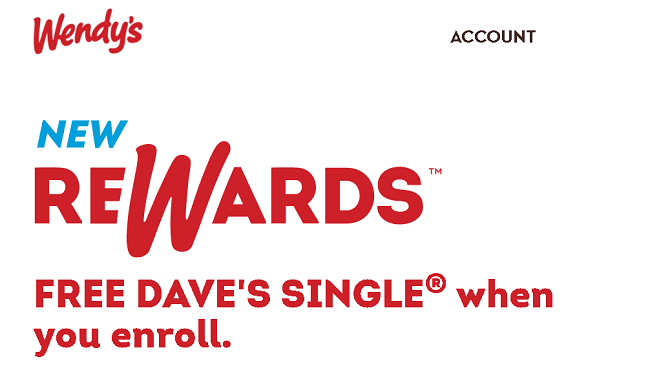 Wendy's Rewards Promotion: Free Dave's Single Burger