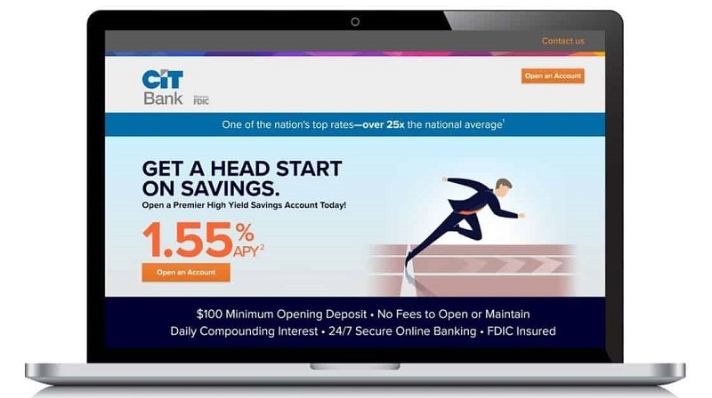 CIT Bank Premier High Yield Savings account bonus promotion