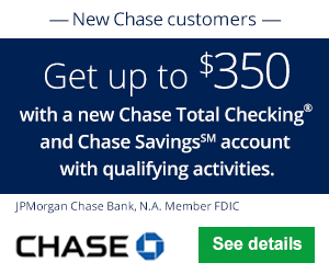 Chase Total Checking & Savings $350 Bonus
