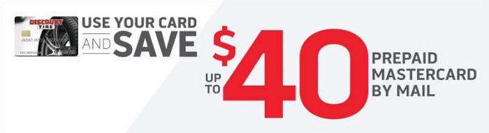 Discount tire credit card up to 40