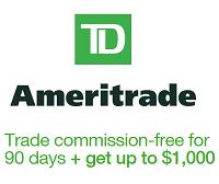 TD Ameritrade $1,000 Bonus + 300 Commission Free Trades