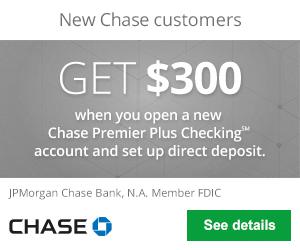 Chase Premier Plus Checking $300 Bonus